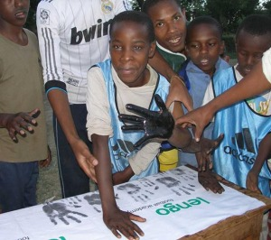 Akili, sight-challenged boy in Ngaramtoni, sponsored and coached by Saakai.