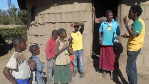 Saakai teaching children in Ngaramtoni